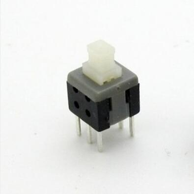 Considerate 10pcs 5.8x5.8mm 6 Pin Dip Self-lock On/off Lock Push Switch Power Switch Key Button Switch Active Components