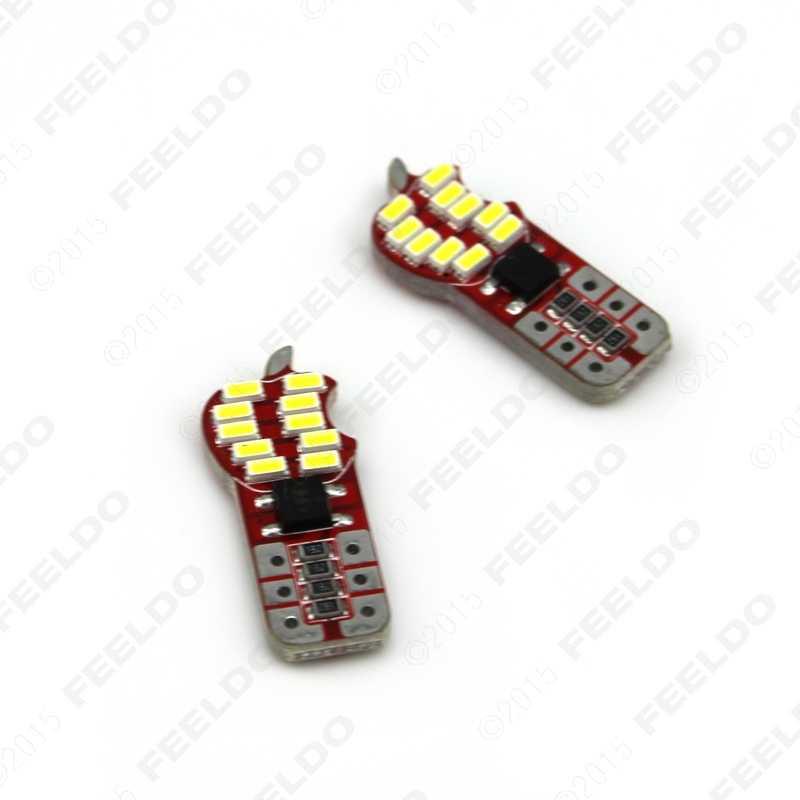 FEELDO 2 pièces Blanc T10 194 3014SMD 20 LED s Voiture LED Face Lampe Moteurs Montrant la Cale LED Lumières