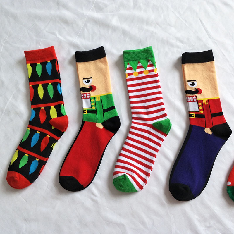 Selfless Colour Crew Cotton Happy Socks Men/women Christmas Style Casual Harajuku Designer Brand Fashion Novelty Art For Couple Funny Be Shrewd In Money Matters Men's Socks