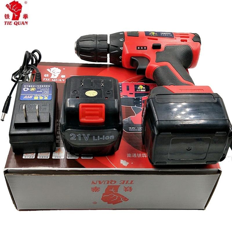 21v Skruvmejslar med 2 batterier Elverktyg Dubbel hastighet - Elverktyg - Foto 5
