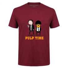 Hot Sale Mens Pulp Fiction Time T Shirt Best Summer Top quality Hip Pop  Shirts Geek 649168aaf