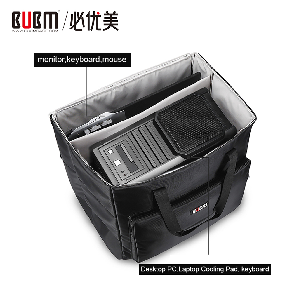 BUBM Desktop PC Computer Travel Storage Carrying Case Bag for Computer Main Processor Case Monitor Keyboard