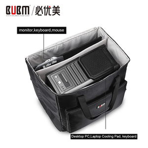 Image 1 - BUBM Desktop PC Computer Travel Storage Carrying Case Bag for Computer Main Processor Case, Monitor, Keyboard and Mouse