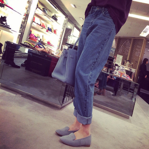 New Fashion Womens Denim Harajuku Brief Women Jeans Females Mid Waist Casual Pants Korean Solid Color Student Female Trousers