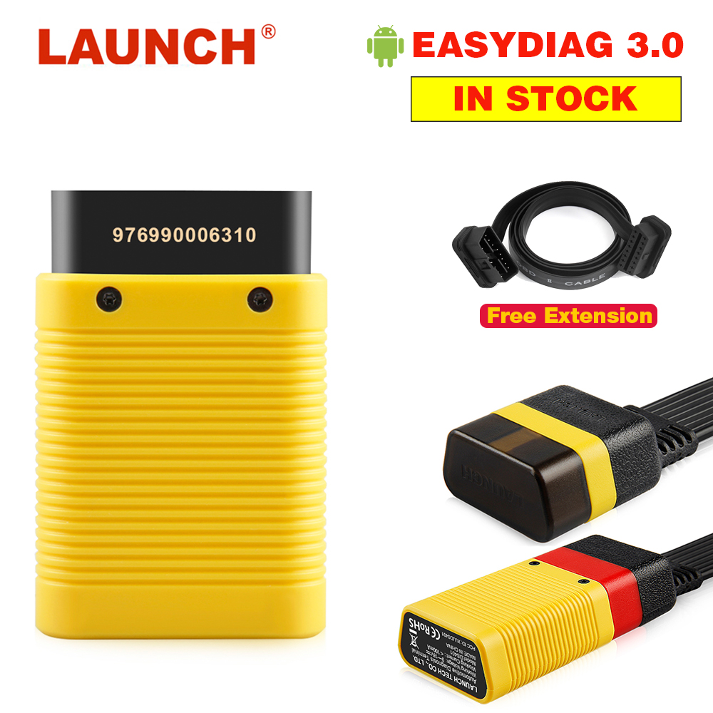 Original LAUNCH X431 EasyDiag 3.0 Plus OBD2 Car Diagnostic Tool for Android Bluetooth Adapter Upgraded Easydiag 2.0 Easydiag 3.0 launch easydiag 2 0 plus automotive obd2 diagnostic tool obdii bluetooth adapter scanner for ios android
