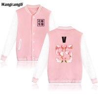 2017 BTS Kpop Baseball Jacket Winter Hoodies Women Popular Bangtan Hip Hop Harajuku Sweatshirt Women Fashion