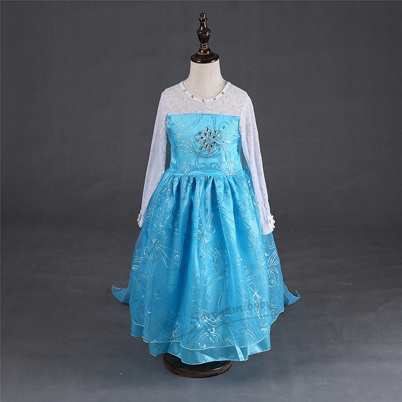aliexpresscom buy elsa costume lace princess dress with long back shoulder cape toddler girl clothing la reine des neiges girls costumes from reliable