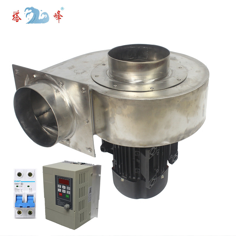 industrial 304 stainless steel 1 1kw 150mm pipe corrosion preventive centrfigual inverter RPM control 220v single