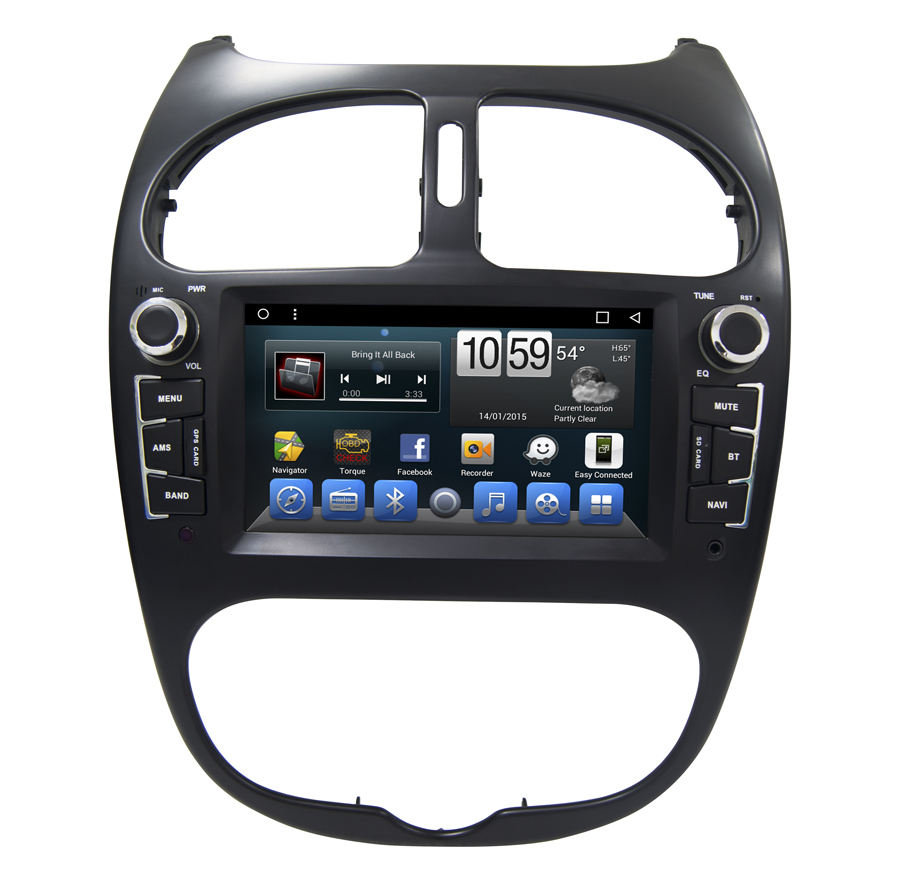 Navirider car dvd player for <font><b>Peugeot</b></font> <font><b>206</b></font> octa core <font><b>android</b></font> 8.1.0 car gps multimedia head unit stereo tape recorder image