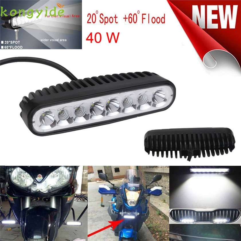 New 8LED Flood Spot Combo LED Work Light off Road SUV Fog Driving Bar Lamp Light car accessories car-styling 2017 18w work lights spot lamp off road driving fog 6 led bar atv 4x4 truck suv car styling auto parts accessories