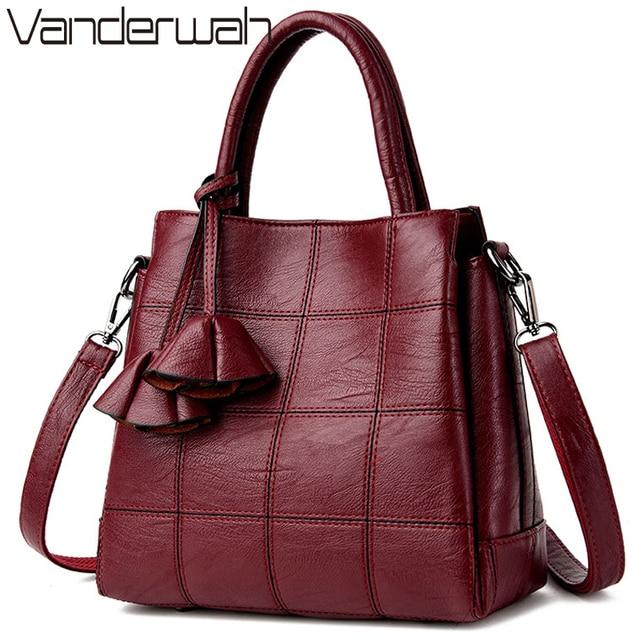 2c8d6ef009b3f Sac główna Skórzane luksusowe torebki Kobiet Torby torebki markowe Wysokiej  Jakości Torba Na Ramię Kobiety Kobiet