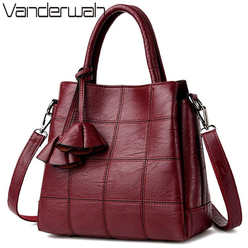 81c18d38c Saco un principal de lujo de cuero de bolsos de las mujeres bolsos de  diseñador alta calidad mujeres hombro bolso mujer bolso mensajero bolsa en  Bolsas de ...