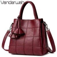 VANDERWAH Luxury Handbags Women Bags Designer Leather Handbags Women Shoulder Bag Female Crossbody Messenger Bag Sac