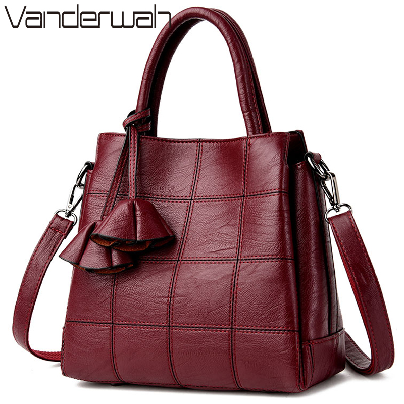 VANDERWAH Luxury Handbags Women Bags Designer Leather handbags Women Shoulder Bag Female crossbody messenger bag sac a main vanderwah crocodile pattern leather luxury handbags women bags designer women shoulder bag female crossbody messenger bag sac