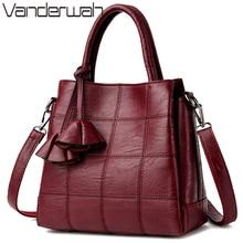 VANDERWAH Luxury Handbags Women Bags Designer Leather handbags Women Shoulder Bag Female crossbody messenger bag sac a main