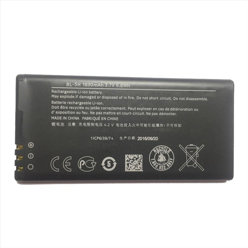 High Quality 1830mAh BL-5H Battery For Nokia Lumia 630 38 635 636 Lumia630 RM-977 RM-978 BL5H BL 5H Mobile Phone + Track Code
