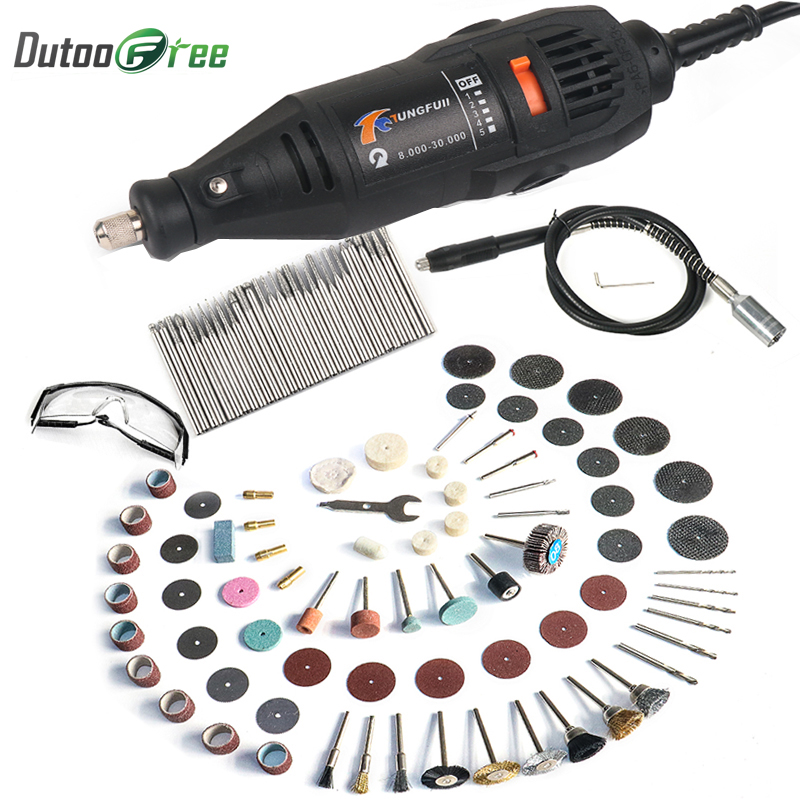 Dutoofree Power Tools Electric Mini Drill With Flex Shaft Rotary Tools Accessories For Dremel Drill Tools Electric Hand Drill Price $28.56