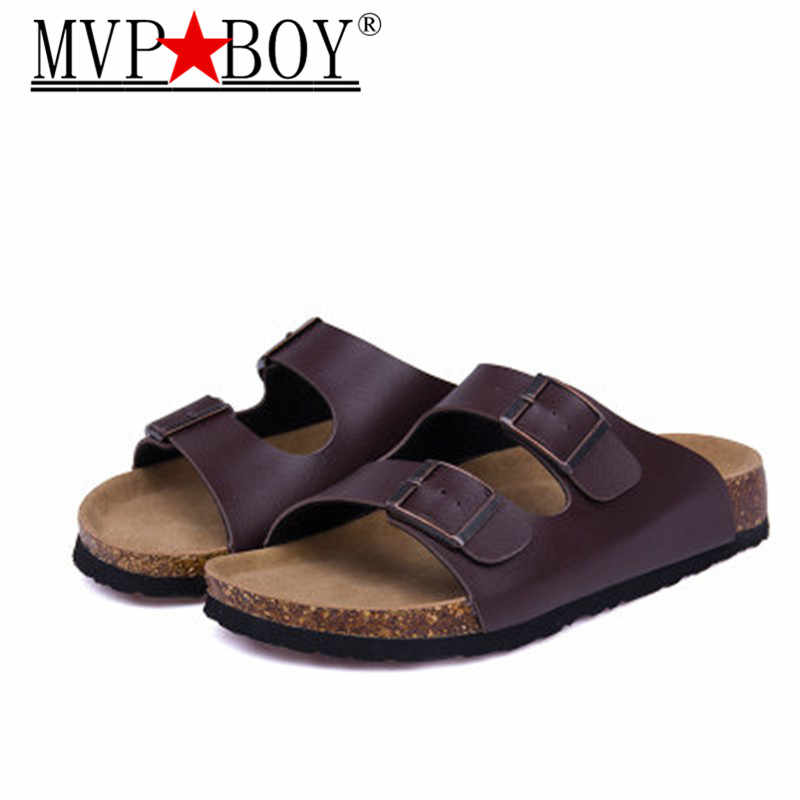 MVP BOY28 color New Summer Beach Valentine Cork Slippers Sandals Casual Double Buckle Clogs Slippers Women Flip Flops Shoe 35-44