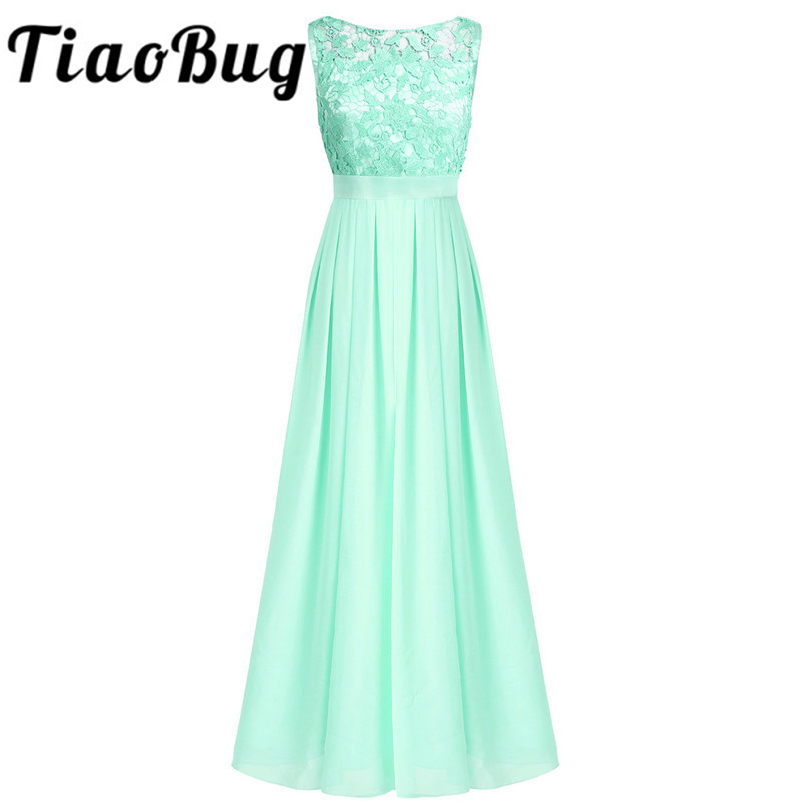Tiaobug Dresses Bridesmaid Formal Princess Lace Tulle Sisters Vestido-De-Festa Gaduation