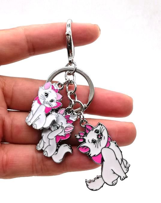 New 1 Pcs  Cartoon Marie Cat Key Chain Cartoon Keychain DIY Key Ring Gift R13