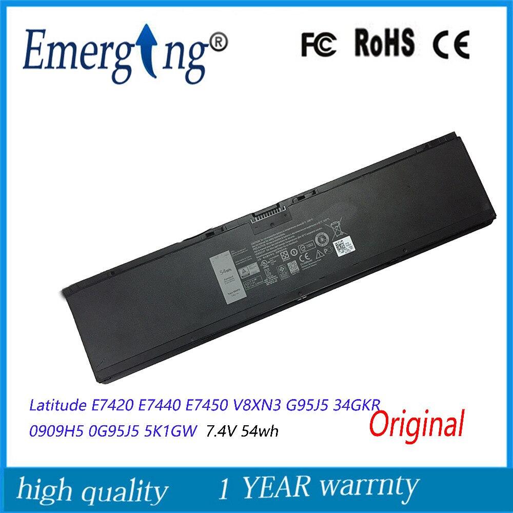 7.4 V סוללה מקורית חדשה עבור Dell Latitude E7440 E7420 54WH E7450 V8XN3 G95J5 34GKR 0909H5 0G95J5 5K1GW
