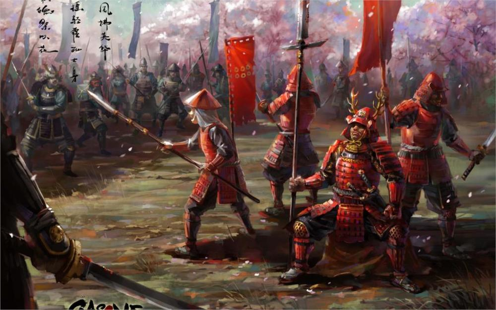 Canvas Painting Art The Army Samurai Asia Armor Weapons Sword Katana Spear Banner 4 Sizes Home Decoration Canvas Poster Print Велюр