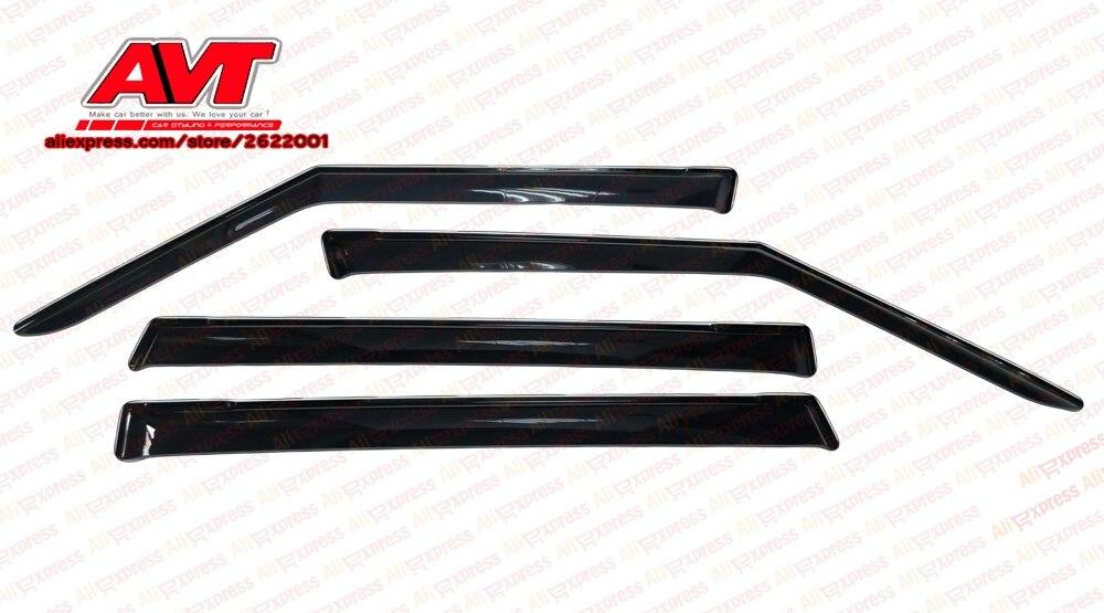 Deflectors for Skoda Yeti 2009 1set 4pcs styling wind window deflector guard auto vent visor rain