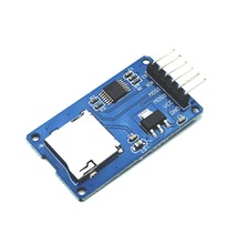Free shipping! 10pcs/lot Micro SD card mini TF card reader module SPI interfaces with level converter chip for arduino