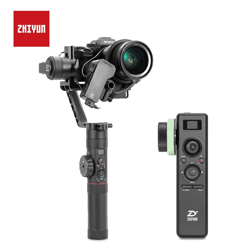 ZHIYUN кран 2 3 оси ручной Карданный с сервоприводом последующей фокусировки для Canon 5D2 5D3 5D4 GH3 GH4 sony Стабилизатор камеры DSLR