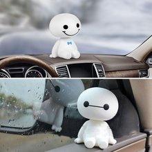 Car Ornament Cute Shaking Head Baymax Robot Doll Automotive Decoration Auto Interior Dashboard Bobbl