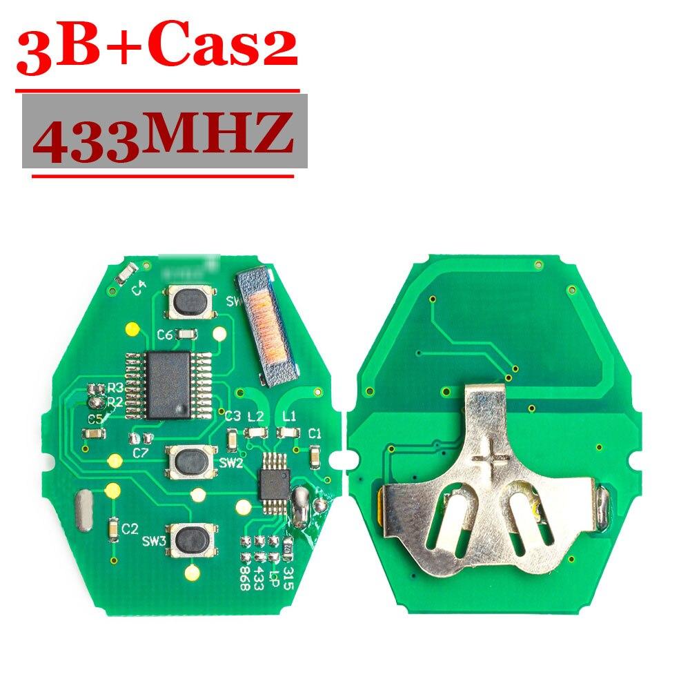 Free Shipping (1 Piece ) CAS2 Remote Key Borad 3 Button 433MHz ID7944 For B-M-W 3 5 6 7 X3 X5