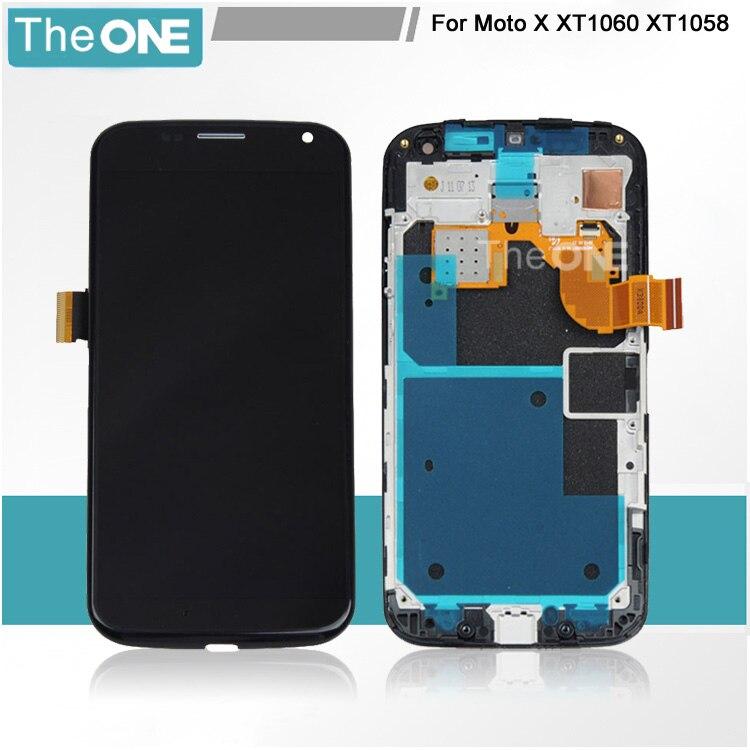 ФОТО Free DHL For Motorola Moto X XT1060 XT1058 XT1056 XT1053 LCD Display Panel Touch Screen Digitizer Glass Assembly +Frame