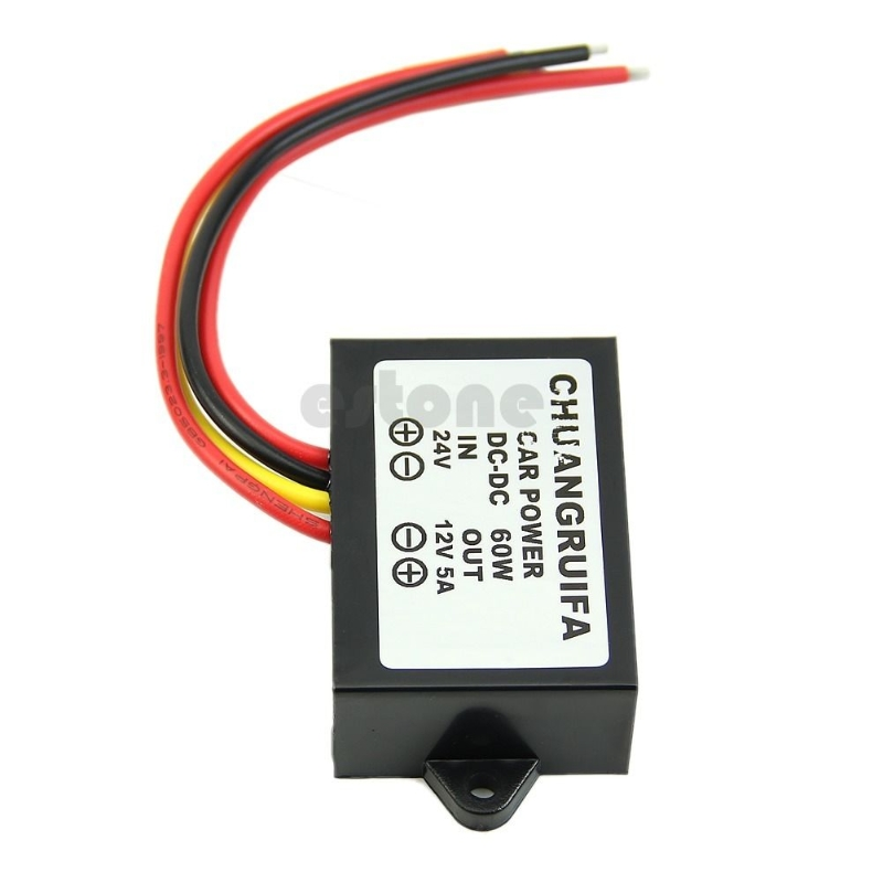 DC 24V to 12V 5A 60W Car Power Supply Step-Down Voltage Regulator Buck Converter инверторы и преобразователи dc dc buck converter dc dc 24v 12v 1 5a 200584 24v to 12v car buck converter