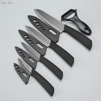 Top Quality Gifts Zirconia Black Blade Black Handle 3 4 5 6 Inch PeelerFree Shipping