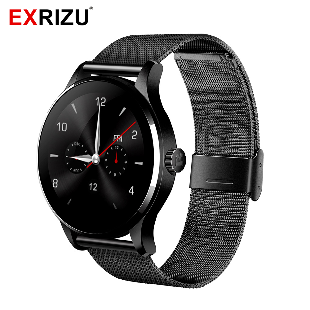 EXRIZU K88H MTK2502C Bluetooth Smart Watch Heart Rate Monitor Smartwatch Wristband Pedometer Health Fitness Bracelet for