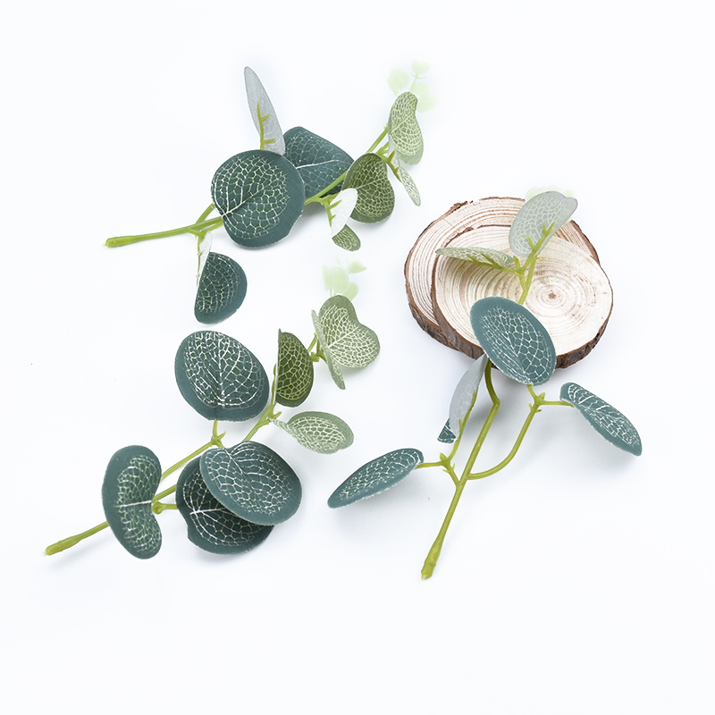 6pcs Artificial Plants For Wedding Home Decoration Bridal Accessories Clearance Fake Leaf Flowers Wreaths Silk Eucalyptus Leaves