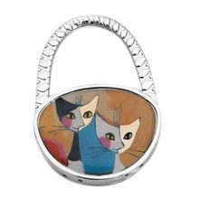 65 x 45 mm Holder High qulity Cute Lovely Folding Foldable Cat Handbag Bag Purse Table Hook Hanger 1PC(China)