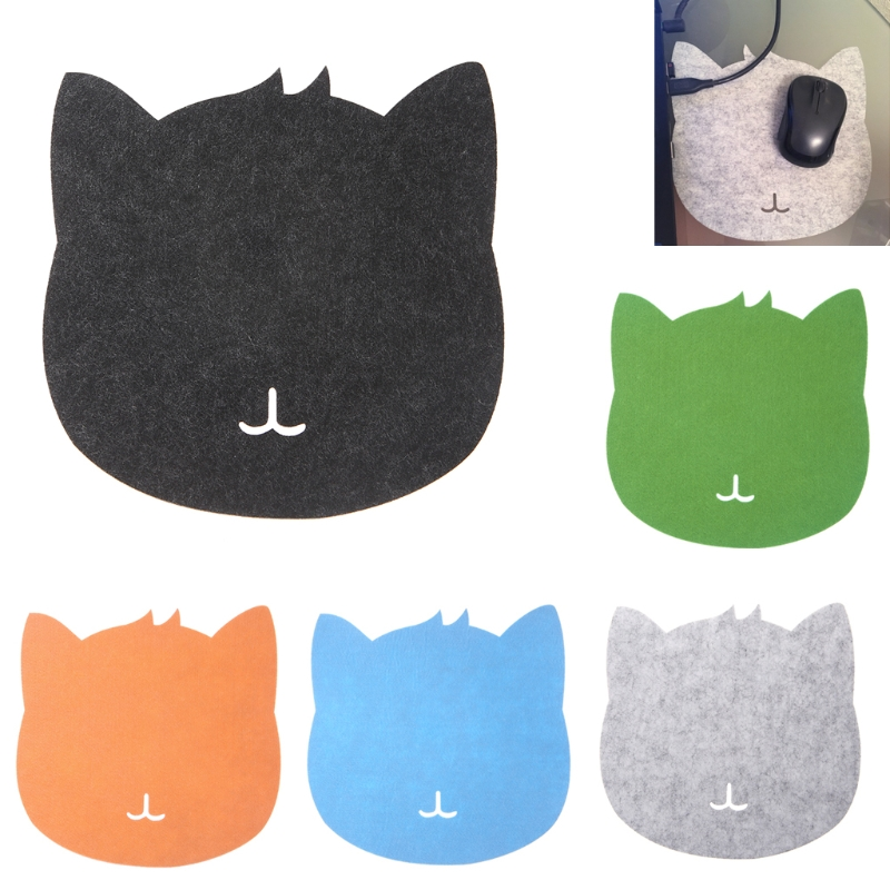 Universal Thicken Mouse Pad Felt Cloth 200x200x3mm Cute Cat Mouse Pad Mat