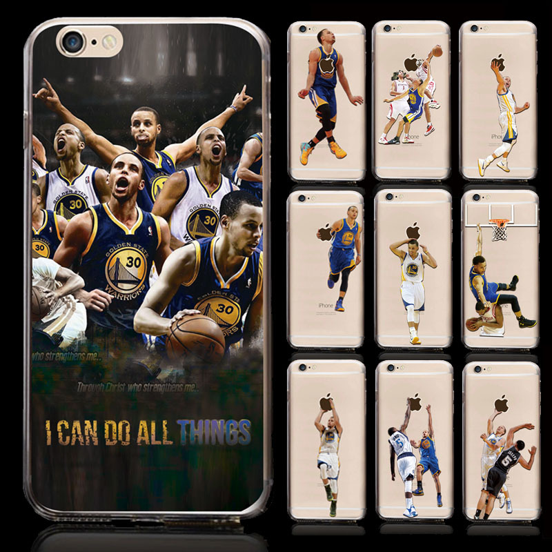 10pcs/lot NBA Basketball Star Kobe James Dunk Case for iPhone 6 Thin transparent Phone Cases for iPhone 6s protect back cover