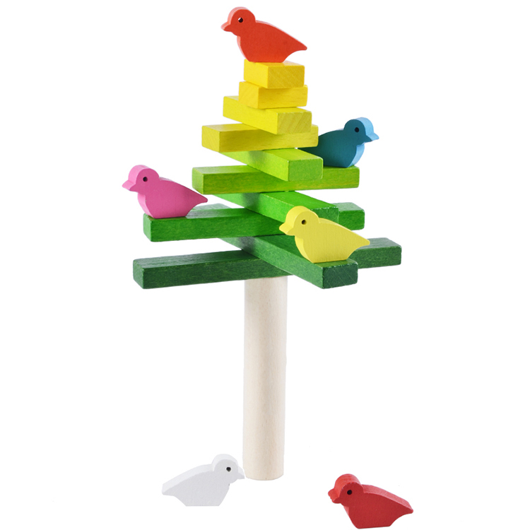 MamimamiHome Baby Montessori Developing Toys Bird Balance Wooden Toys For Children Wooden Balance Toy Building Blocks 50pcs hot sale wooden intelligence stick education wooden toys building blocks montessori mathematical gift baby toys