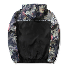 FE Floral Bomber Jacket Men Hip Hop Slim Fit Jacket