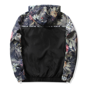 Image 3 - Grandwish Floral Bomber Jacket Men/Women Hip Hop Slim Flowers Pilot Bomber Jacket Coat Mens Hooded Jackets Plus Size 4XL,PA571