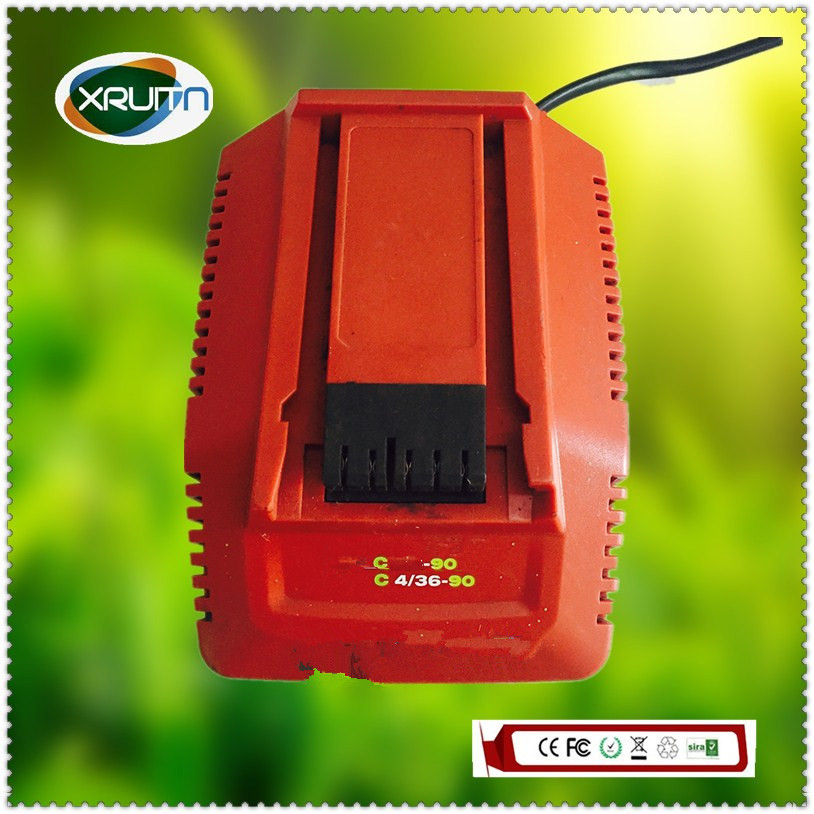 110v-220v Input Free Shipping Used Original For Hilti /for Hilti C4/36-90 Li-ion Battery Charger 14.4v-36v Bracing Up The Whole System And Strengthening It