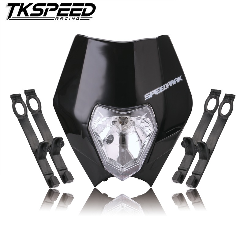 FREE SHIPPING Universal Motorcycle Enduro Headlight Fairing With Bulb Dirt Bike Motocross Headlamp For KTM SX EXC