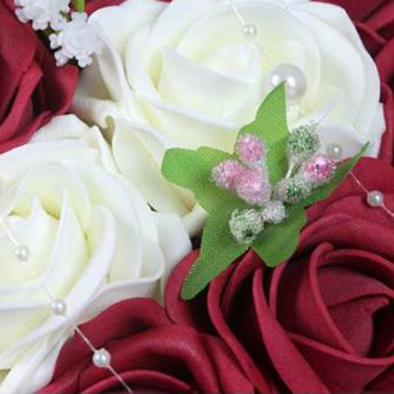 Fashion cheap burgundy wedding bouquet pinkredwhiteburgundy fashion cheap burgundy wedding bouquet pinkredwhiteburgundy bridal bridesmaid flower artificial flower rose bouquet bride in wedding bouquets from mightylinksfo Choice Image