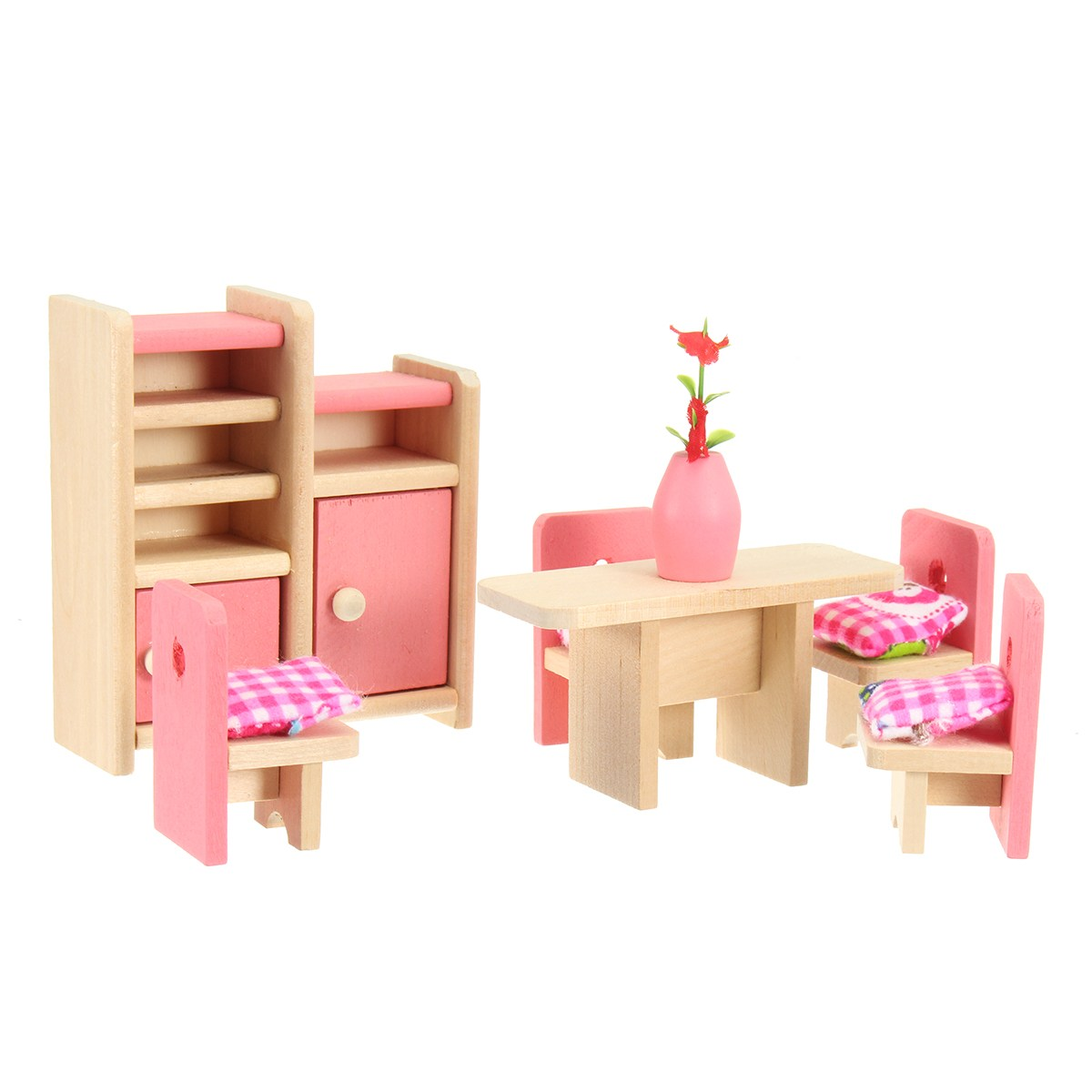 1:12 Dollhouse Dinning Room Miniature Decor Figurines Toys for Kids Christmas Gift Craft