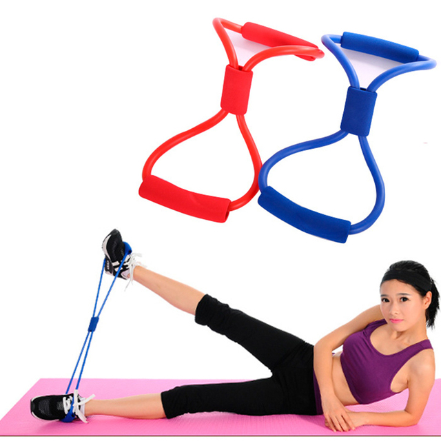 8 Word Chest Fitness Home Gym Rubber Loop Latex Resistance Exerciser Equipment Stretch Yoga Training Elastic Bands For Fitness