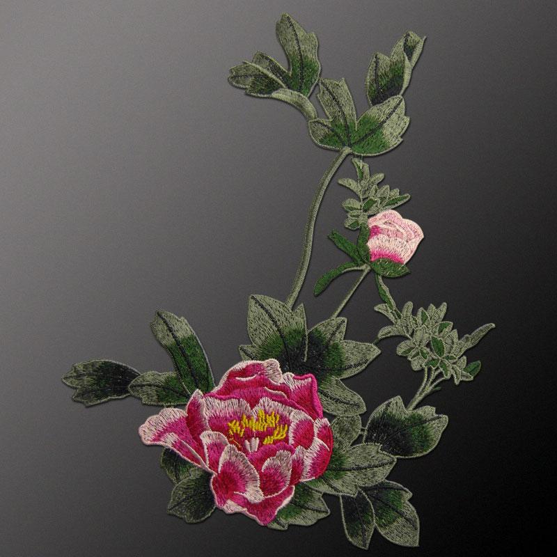 AHYONNIEX markë e qepur në Peony Flower Patches Lule Decal Sticker - Arte, zanate dhe qepje - Foto 5