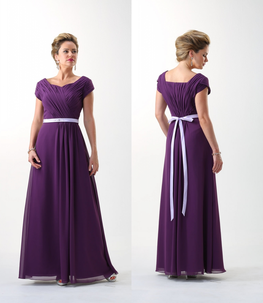 Aliexpress buy purple 2017 long modest bridesmaid dresses aliexpress buy purple 2017 long modest bridesmaid dresses with cap sleeves pleats chiffon a line floor length boho bridesmaid robes custom made from ombrellifo Gallery