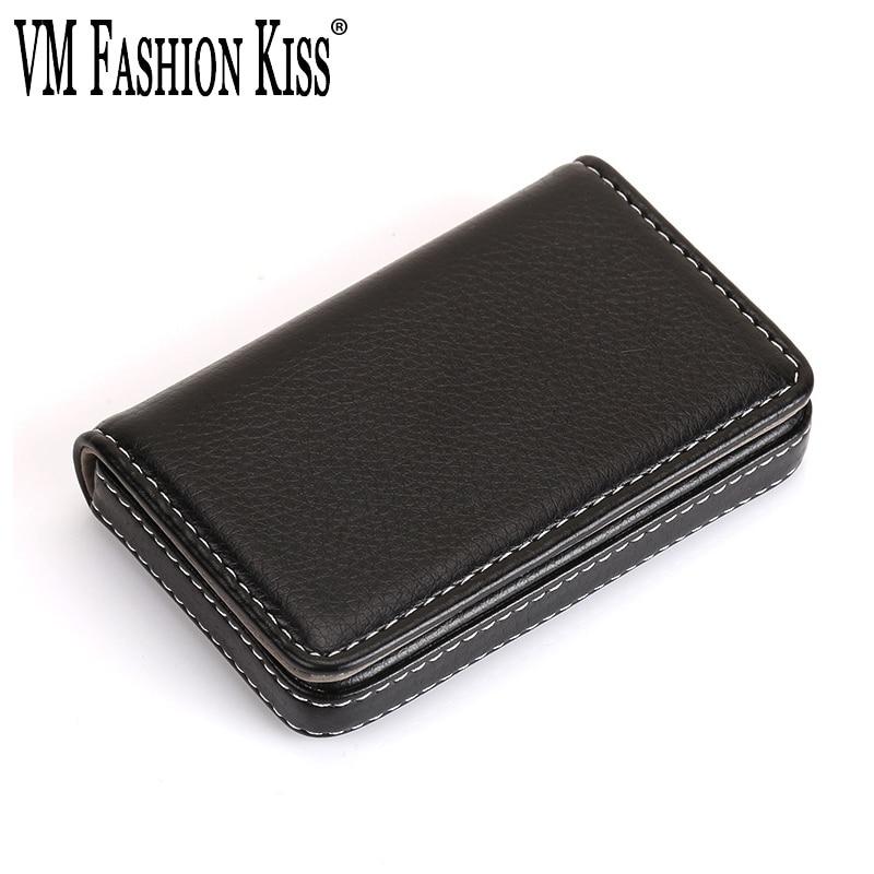 Hot sale vm fashion kiss business card wallet card holder id credit vm fashion kiss business card wallet card holder id credit card holder women men pu leather protector cardholder name card box colourmoves
